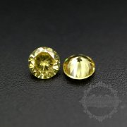 50pcs 2mm round cubic zirconia culet cabochon synthetic gems zirconia stone in yellow color DIY supplies 4110151--1