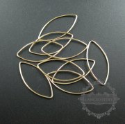 5pcs 18gauge,1mm thick 36x16mm14K gold filled marquise closed jump ring jewelry DIY supplies findings 1545012