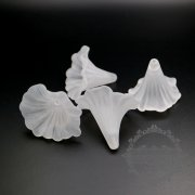 10pcs 30x35x42mm matte white plastic lucite flower cap DIY pendant earrings supplies 1800245
