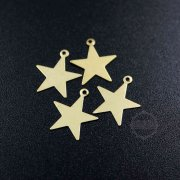 20pcs 13mm simple raw brass star stamping plate DIY pendant charm supplies 1800330-2