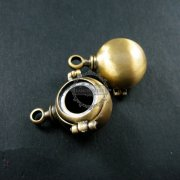 6pcs 12mm round setting size vintage style antiqued bronze steam punk DIY pendant charm supplies findings 1810317