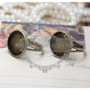 10pcs 10MM round vintage bronze ring setting,ring setting base,vintage ring,fashion ring1211031