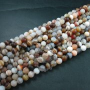 1 string15inch string,about 38pcs,10mm round shape natural brown white mix color banded agate loose beads findings supplies 3110170