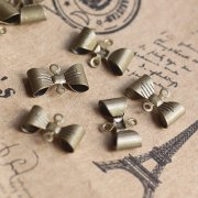 150pcs 7*12MM vintage bronze brass bow knot connector,pendant connector,necklace connector1571030