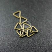 200pcs 5x0.7mm vintage style antiqued bronze triangle open jumpring DIY findings 1541009-1