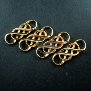 6pcs 10x30mm 14K light gold plated double infinity timeless forever DIY pendant charm supplies 1850190