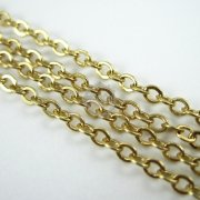 5meter 2x3mm brass gold O chain for DIY necklace supplies 1315006
