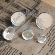 10pcs 10MM silver plated brass round earring stud,earring tray,earring setting 1702005-2