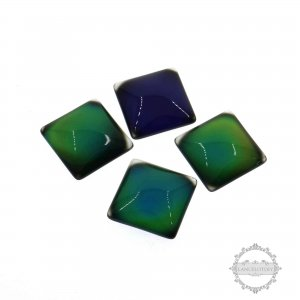 6pcs 15mm square color change mood cabochon for DIY mood rings,charms supplies fingdings 4140012