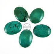 2pcs 30x40mm big oval greeny blue turquoise cabochon beads,gemstone pendant cabochon stone beads set for rings,necklace 4120036