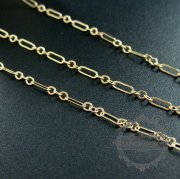 10cm 2mm plus 2x6mm 14K gold filled high quality color not tarnished cable chain DIY necklace chain supplies findings 1315016