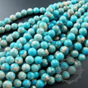 1 string 10mm dyed blue imperial jasper round loose beads DIY jewelry findings supplies 3160032