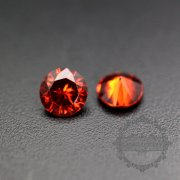 50pcs 2mm round cubic zirconia culet cabochon synthetic gems zirconia stone in garnet red color DIY supplies 4110151--1