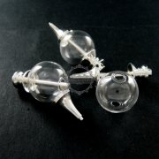 1pcs 20mm glass ball in silver plated brass vial pendant DIY glass dome bottle charm supplies 1820205