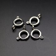 10pcs 8mm stainless steel rhodium color spring ring clasp DIY supplies findings 1524003