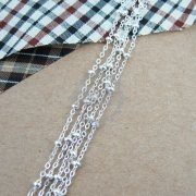 5meters silver plated O chain,silver beads chain,silver necklace,bracelet chain 1312014