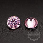 50pcs 2mm round cubic zirconia culet cabochon synthetic gems zirconia stone in pink color DIY supplies 4110151-1-1