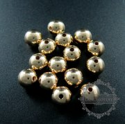 8mm bead with 2mm hole 14K gold filled high quality color not tarnished metal bead DIY jewelry supplies findings 3996014