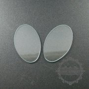 10pcs 19x31mm irregular shape 1mm thick glass cover cabochon DIY supplies findings 4160011