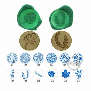 1Pcs Olive Tree Leaf Personalized Bronze Silver Rose Gold Blue Wood Handle with Wedding Party Invitation Customized Sealing Wax Seal Stamp Head 1507024