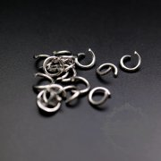 100pcs 1x5mm 18gauge stainless steel rhodium color single open jumpring DIY jewelry supplies findings 1544008