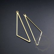 20pcs 16x56mm triangle raw brass frame with loop for DIY pendant charm supplies 1800286