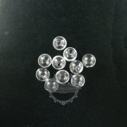 6pcs 12mm round glass beads bottles with 2mm open mouth transparent DIY glass pendant charm findings supplies 3070076