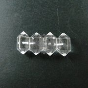 3pcs 23*13mm transparent natura crystal quartz half hole drilled pendant charm DIY jewelry findings supplies 4140009