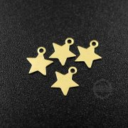 20pcs 7mm simple raw brass star stamping plate DIY pendant charm supplies 1800330-1