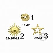 10pcs vinatge style raw brass sun star round stamping pendant charm DIY supplies findings 1800364