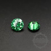 50pcs 2mm round cubic zirconia culet cabochon synthetic gems zirconia stone in green color DIY supplies 4110151--1