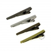 5pcs 5x55mm silver,gun black,bronze color brass tie clip DIY tie bar jewelry accessory findings supplies 1540032