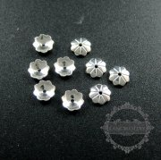 10pcs 5mm solid 925 sterling silver flower beads cap DIY jewelry supplies findings 1562008