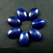 6pcs 13x18mm oval dyed blue lapis lazuli cabochon DIY supplies for ring charm 4120060