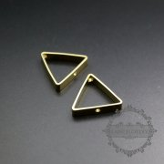 20pcs 20mm raw brass triangle frame with two holes for DIY beading pendant charm supplies 1800287-1