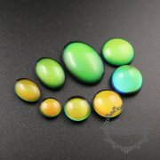 12pcs 10-16mm round,oval shape color change mood cabochon for DIY mood rings,charms supplies fingdings 4160014