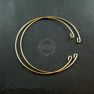 5pcs 60mm diameter 1mm thick vintage style raw brass antiqued simple wiring bracelet DIY bangle supplies 1900088