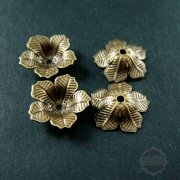 10pcs 16mm vintage style brass bronze antiqued flower beads cap DIY beading jewelry supplies 1561006-1