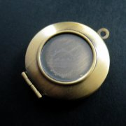 5pcs 16mm setting simple round bronze brass antiqued photo locket pendant charm DIY supplies findings 1111042