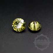 50pcs 2mm round cubic zirconia culet cabochon synthetic gems zirconia stone in peridot color DIY supplies 4110151--1