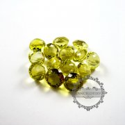 1pcs 14-14.5mm round faceted cut natural lemon quartz semi precious loose stone gemstone diy ring,earrings,pendant charm cabochon 4110103