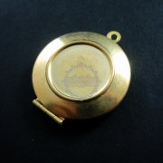 5pcs 16mm setting simple round raw brass color antiqued photo locket pendant charm DIY supplies findings 1110018