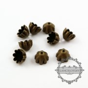 100pcs 8mm vintage style antiqued bronze color filigree star beads cap DIY jewelry supplies findings flower cap 1561017