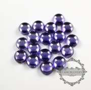10pcs 10mm round purple high quality artificial zircon cabochon DIY supplies 4110136
