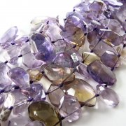 1 string 29pcs 15-20mm random shape and size natural facted amethyst citrine DIY loose beads supplies beading findings 3030012