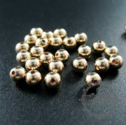 4mm bead with 1mm hole 14K gold filled high quality color not tarnished metal bead DIY jewelry supplies findings 3996013