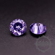50pcs 2mm round cubic zirconia culet cabochon synthetic gems zirconia stone in purple color DIY supplies 4110151--1