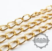 5meters 8x13mm gold color aluminium light big chain for necklace DIY jewelry suppliles findings 1315019