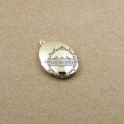 5pcs 22x29mm 14K light gold plated oval photo locket pendant charm DIY jewelry supplies 1126001