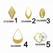 10pcs vinatge style raw brass hollow chandelier stamping pendant charm DIY supplies findings 1800365